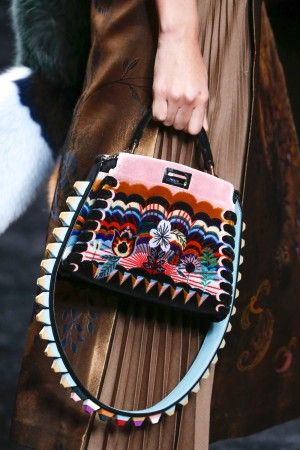 1ea5fd1f61ac Fendi Multicolor Shearling Peekaboo Bag - Fall 2016