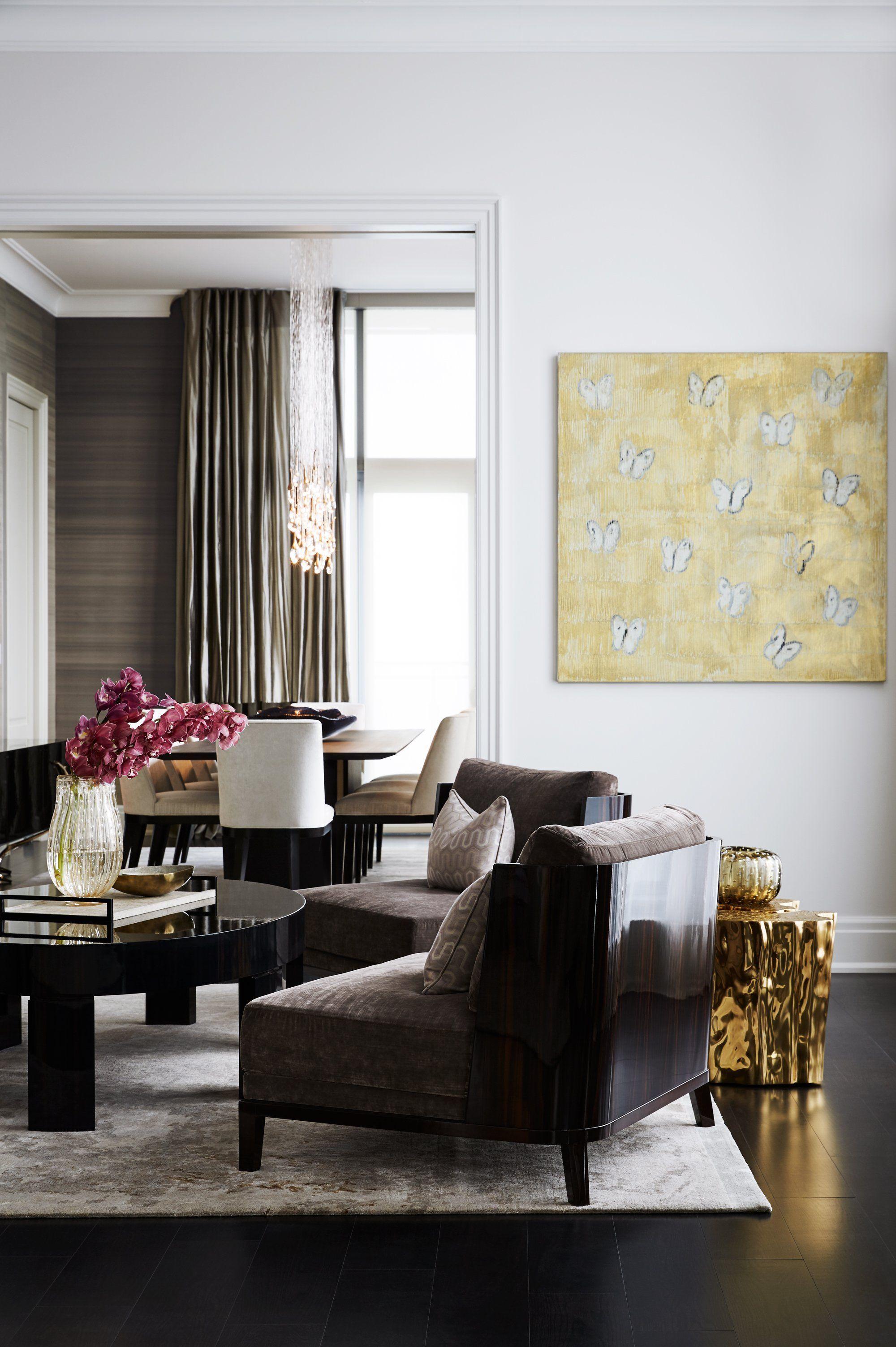 Julie Charbonneau Design Luxury, elegant and beautiful living room ...