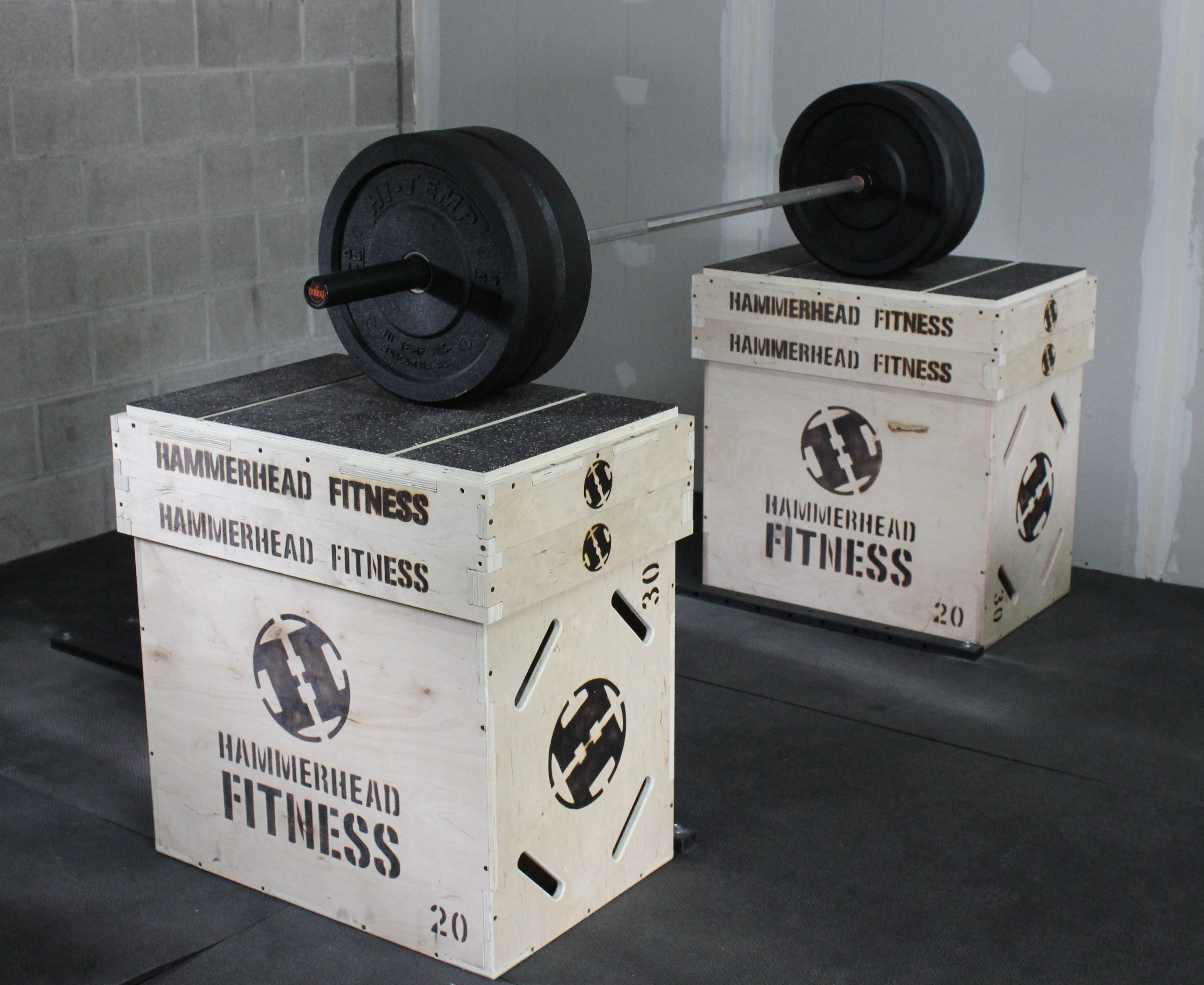 Add jerk blocks right to the top of your plyo boxes yep