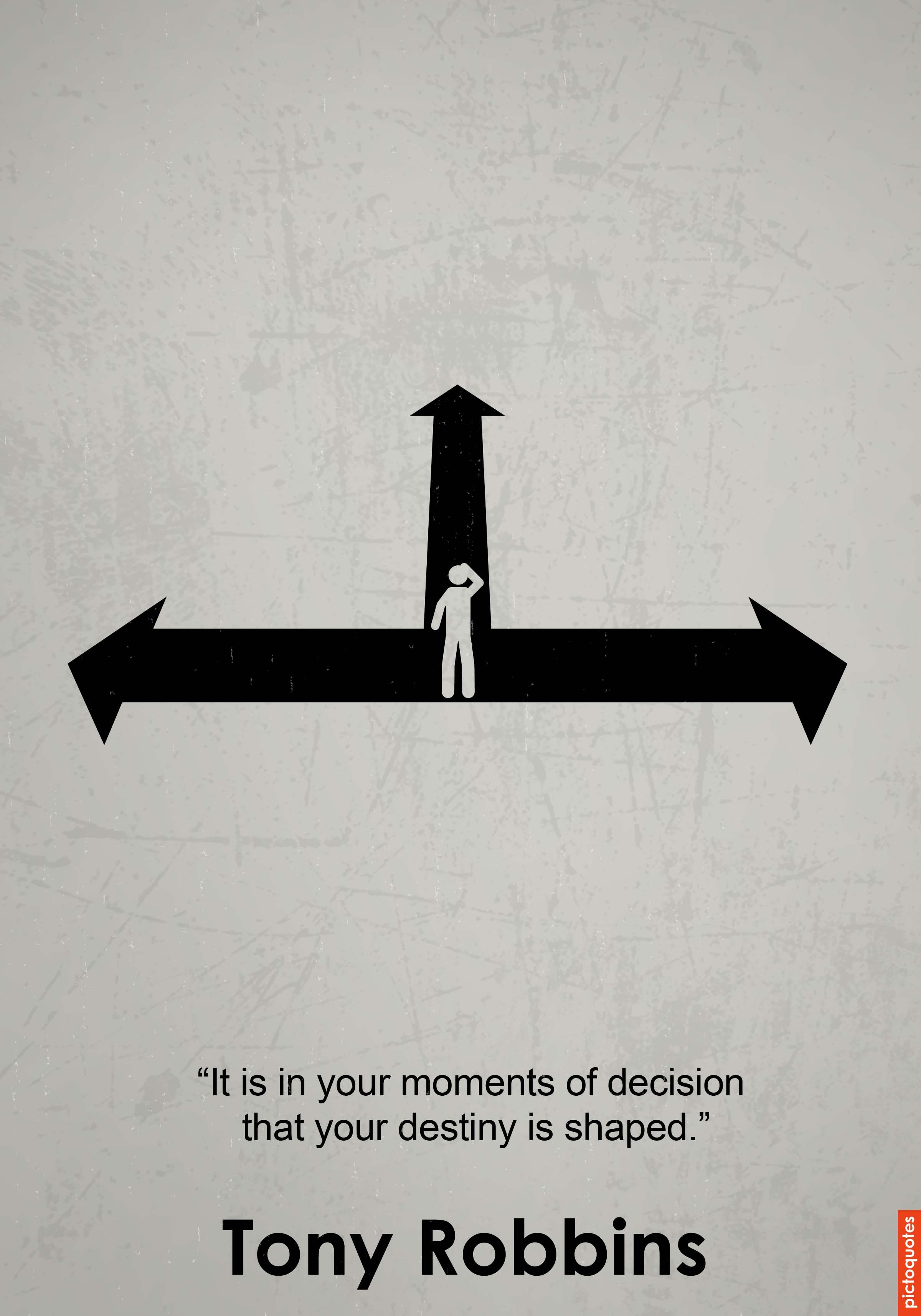 """It is in your moments of decision that your destiny is"