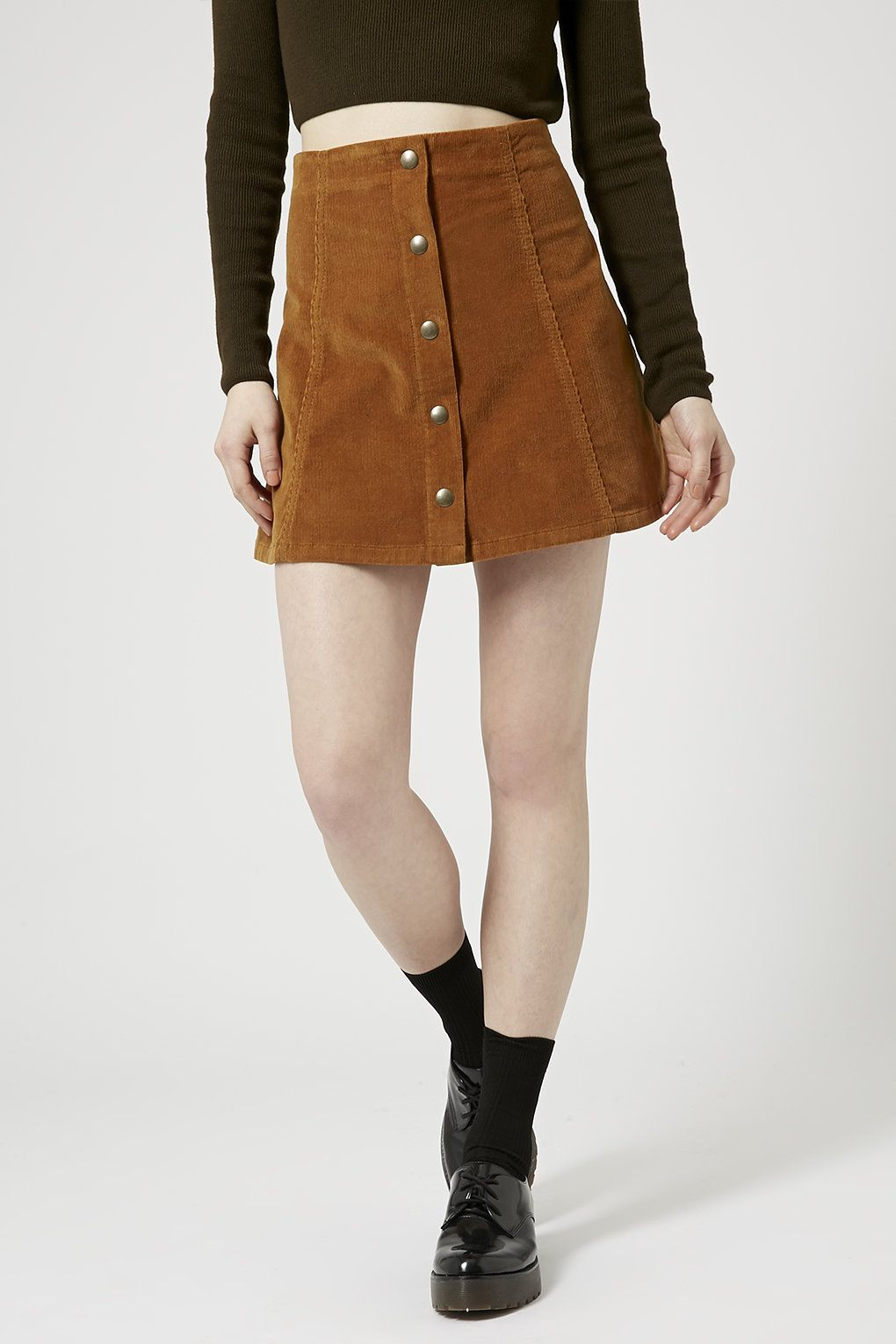 5ee811134 Cord Popper A-Line Skirt - Denim Dreamers - We Love - Topshop Malaysia