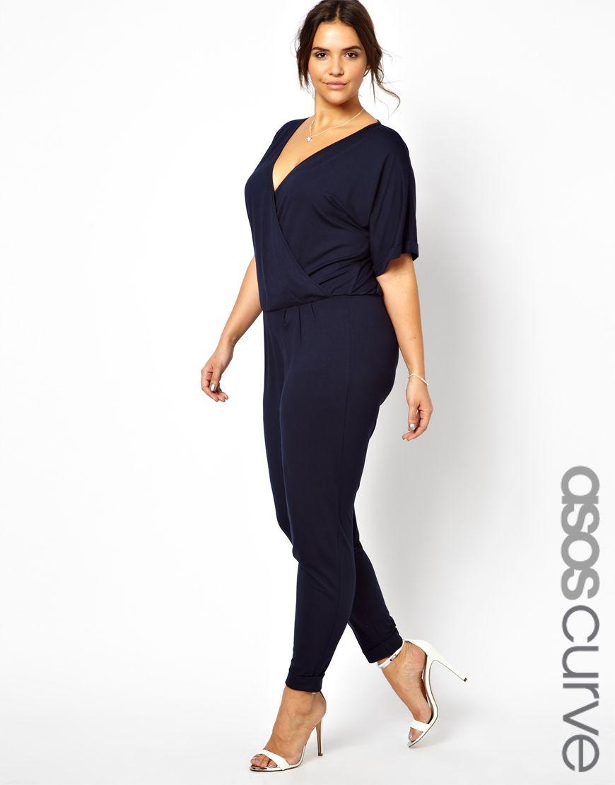 Curve exclusive jumpsuit with wrap asos curve curves and wraps