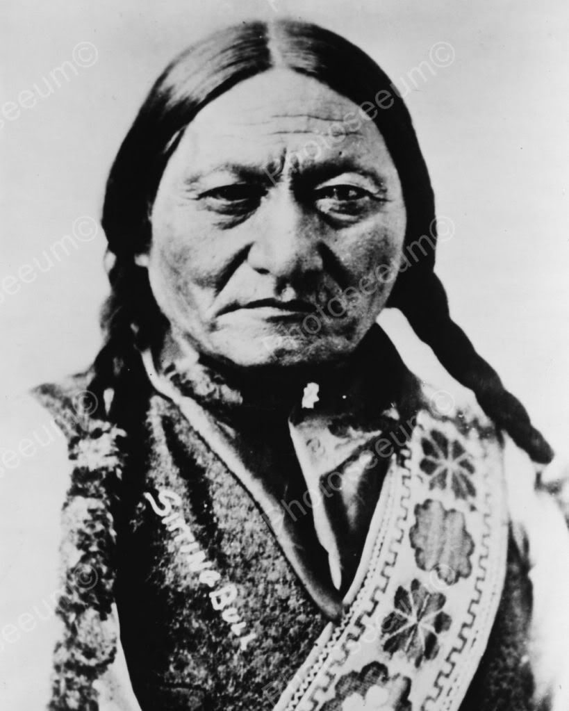 Native American Indian Portrait Sitting Bull 1885 Photo Art Print Picture