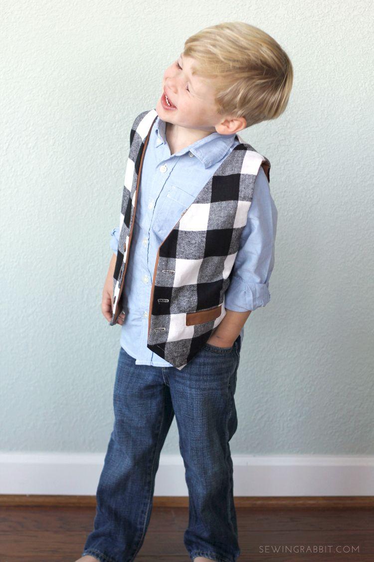 Free Vest Pattern | Trajes para niño, Para niños y Traje