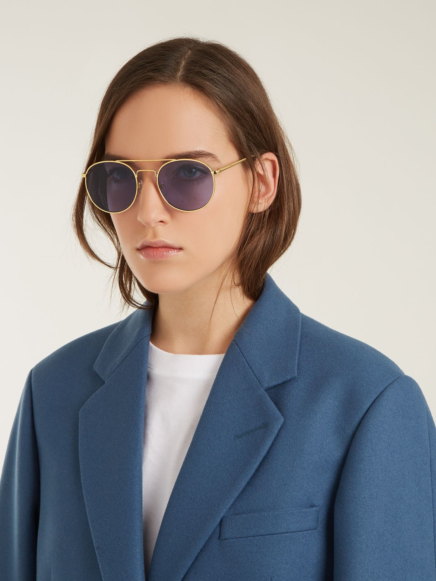 Revolución Gafas De Sol Redondas De Metal-frame Le Specs PnnP06