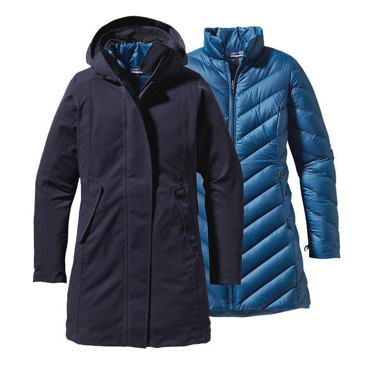 $529 Patagonia Women's Tres Down Parka - Blueblack BLB | Winter ...