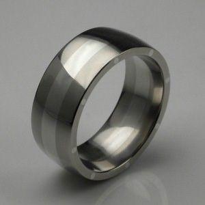 metal geo elipse wide ring in palladium mens wedding rings designer jewellery by stephen