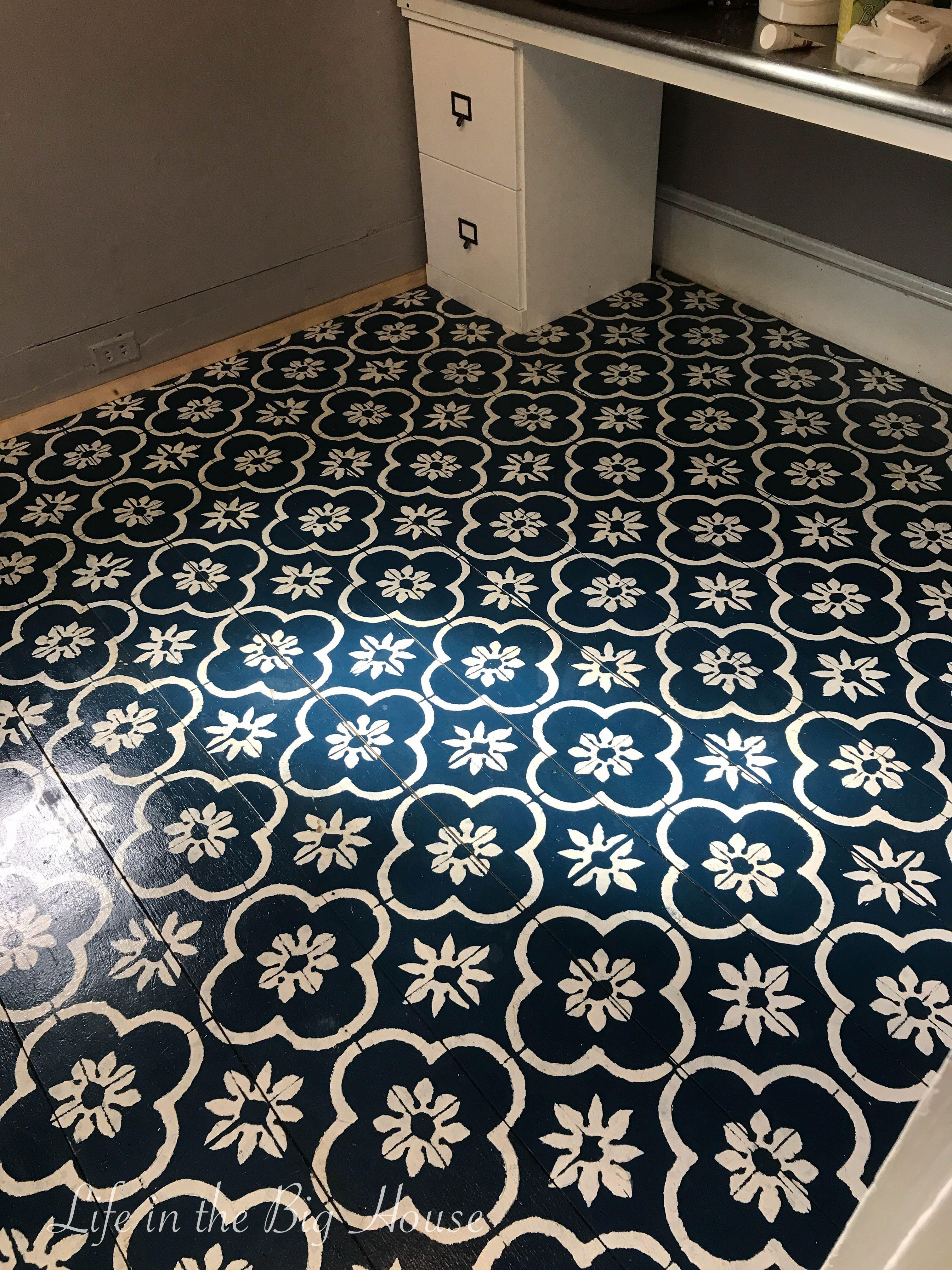 Painted Greenhouse Floor