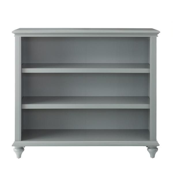 Home Decorators Collection Hamilton 3 Shelf Grey Open Bookcase