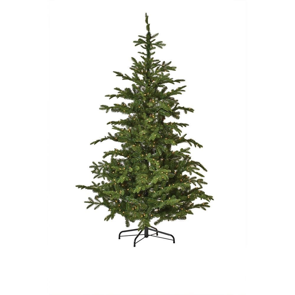 martha stewart living 75 ft indoor norwegian spruce hinged - Martha Stewart 75 Foot Christmas Trees