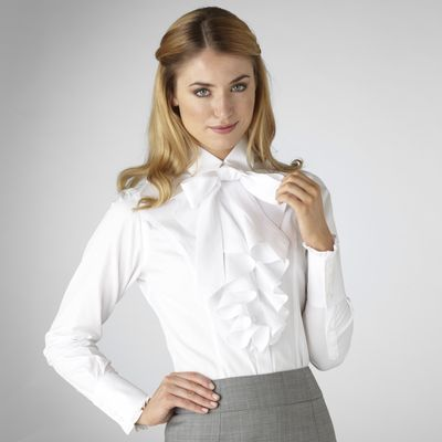 TM Lewin's crisp white bow detail shirt @TMLewin