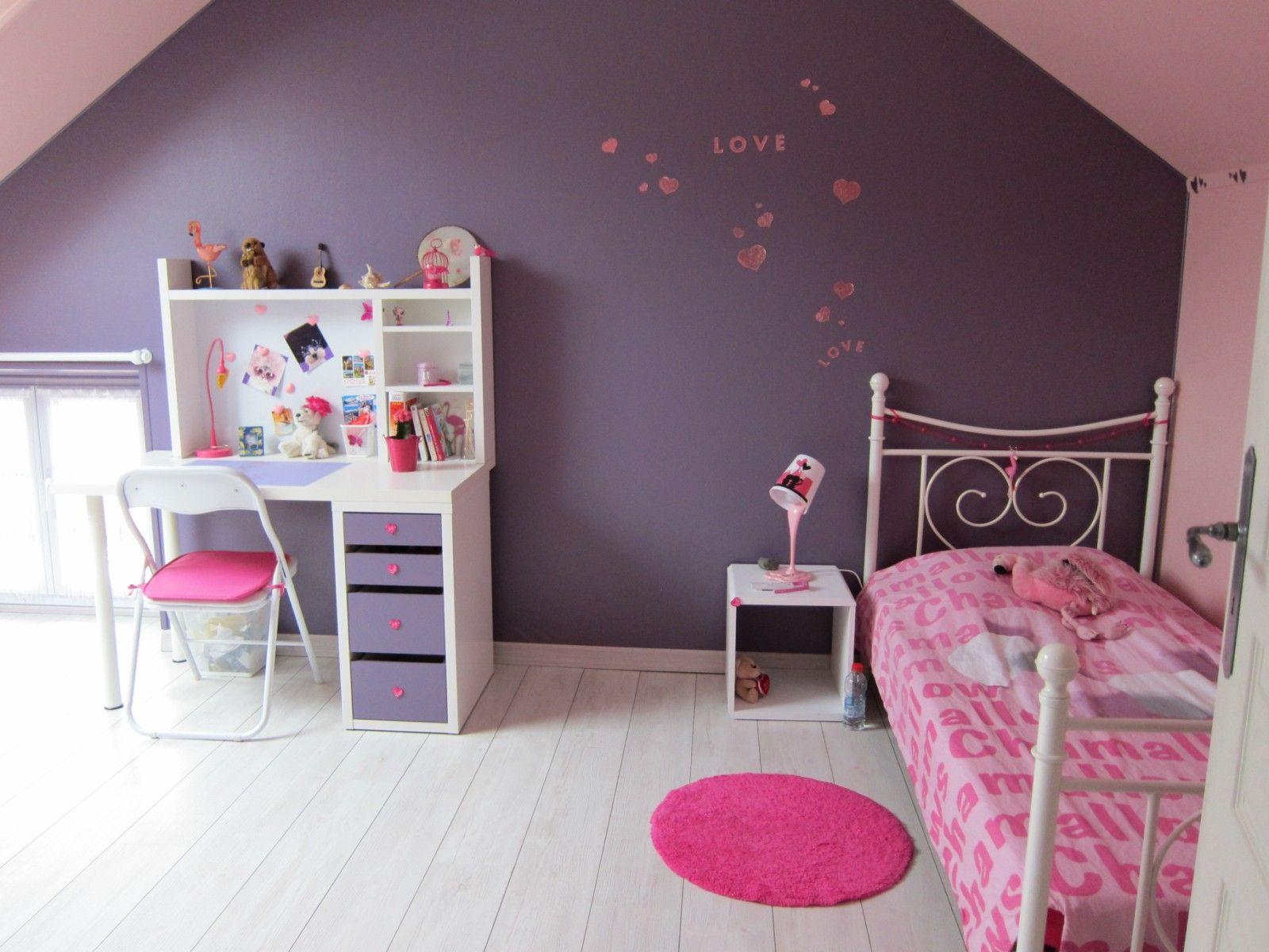 chambres idée décoration chambres et aménagement domozoom ... - Peinture Chambre Fille Rose Violet