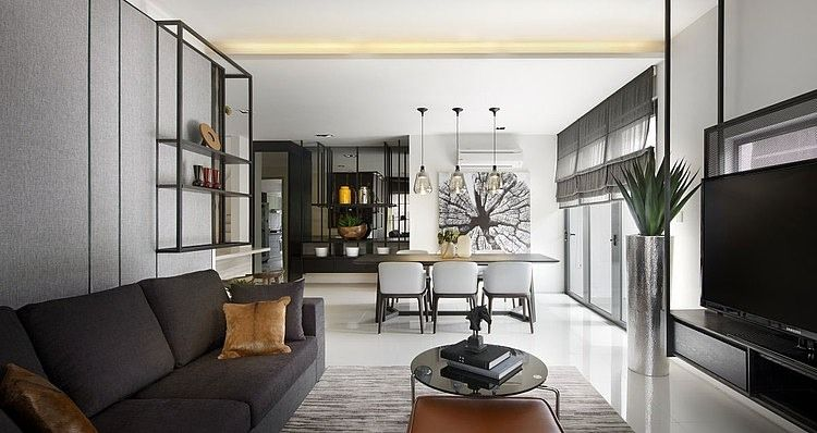Living Space   Spacious Open Concept With Modern Furnishings U0026 Decor.  Simply Elegant. (re Pinned Photo From Blu Water Studio)