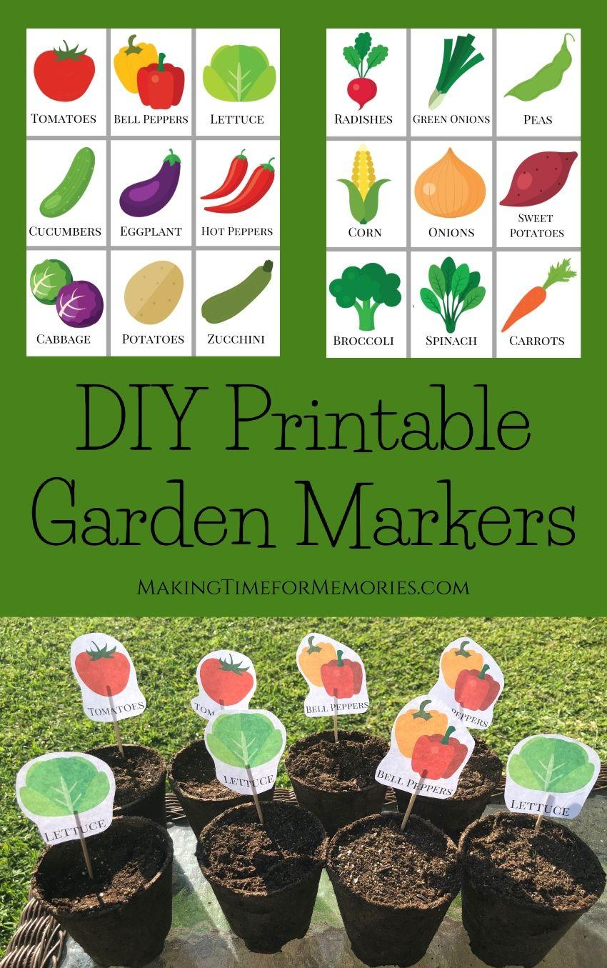 DIY Printable Garden Markers Making Time for Memories