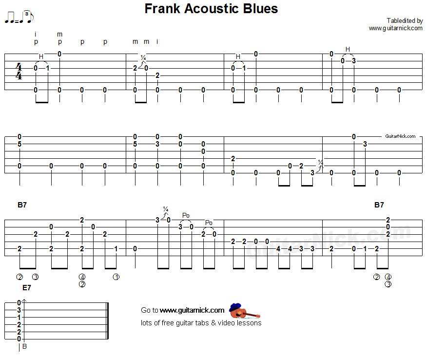 Acoustic Blues Guitar Tabs : frank acoustic blues acoustic fingerpicking guitar tab acoustic guitar fingerstyle guitar ~ Hamham.info Haus und Dekorationen