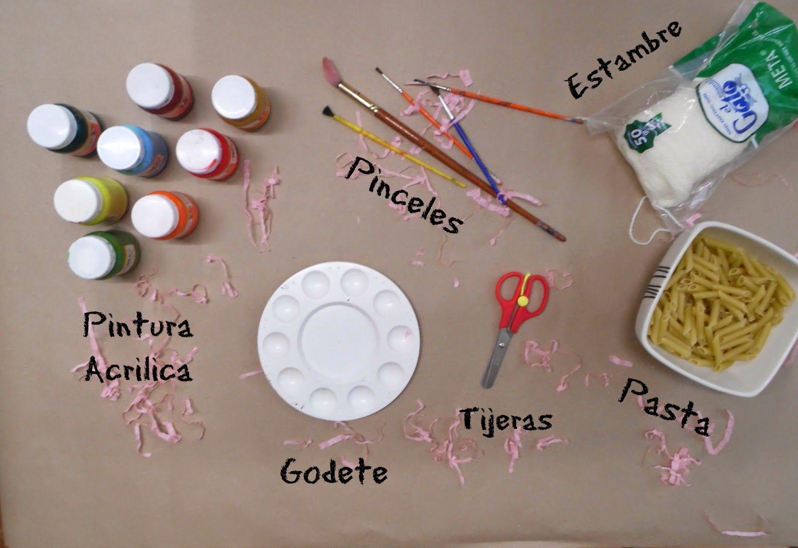 Materiales para hacer un collar de pasta