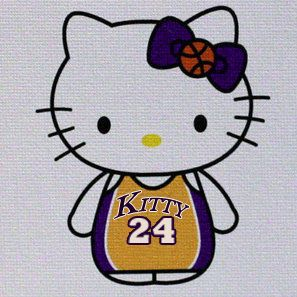 Hello Kitty Lakers Kobe 24 | Hello kitty, Hello kitty characters ...