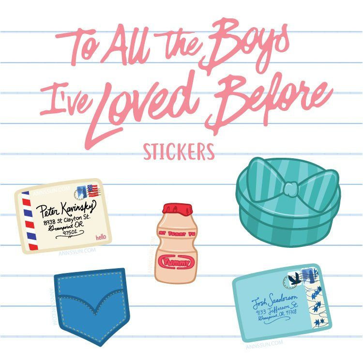 To All The Boys I Ve Loved Before Stickers Etsy Con Imagenes