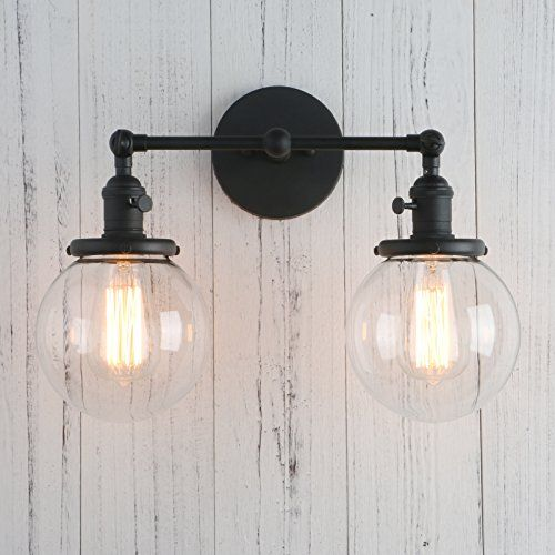 Permo Double Sconce Vintage Industrial Antique 2 Lights W Https Www Amazon Com Dp B01n7sst1t Ref Cm Sw Wall Sconce Lighting Sconces Wall Lamps Wall Lights