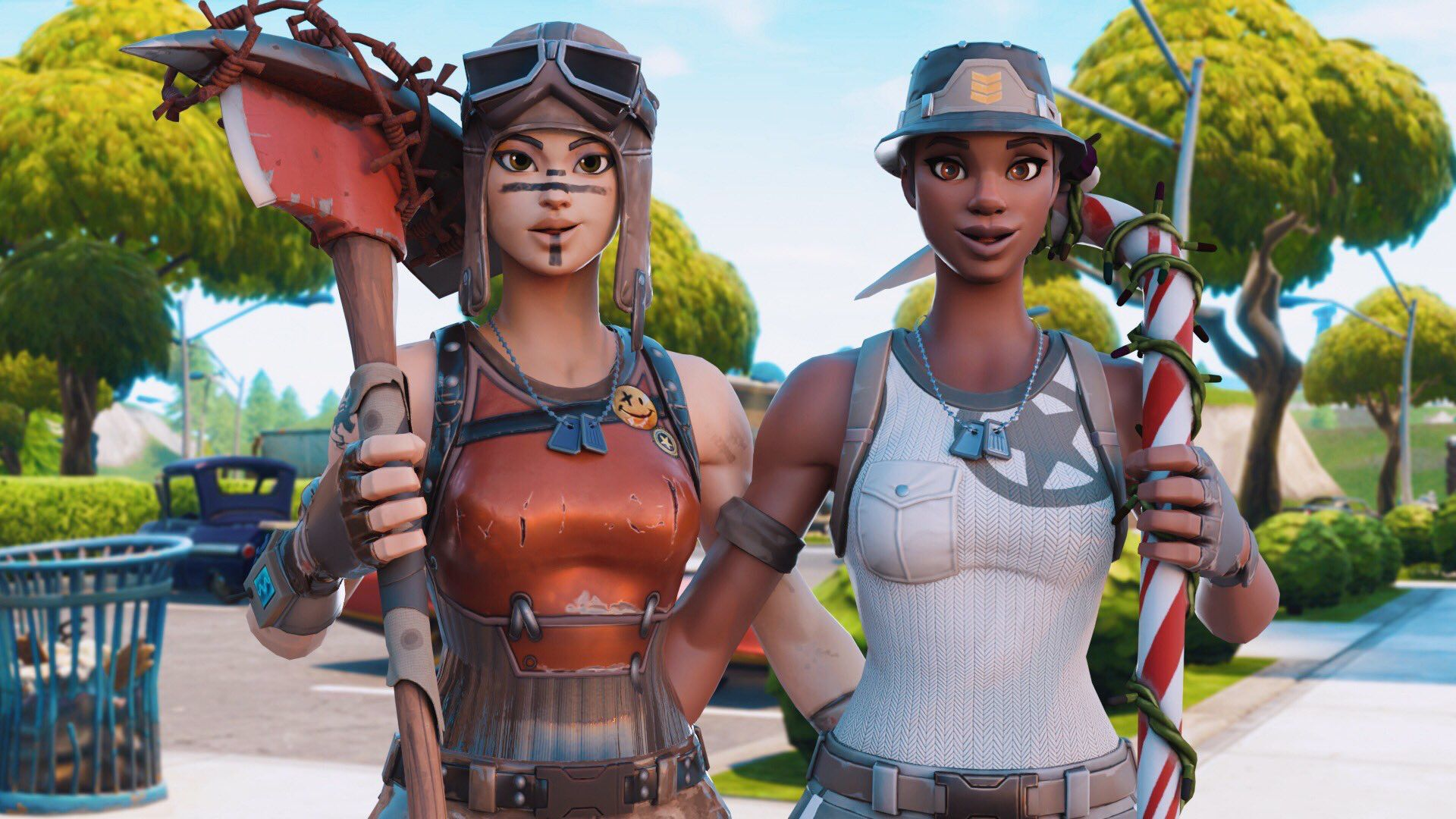 Fortnite Reneigate And Recon With Reneigate Revenge And Candy Axe