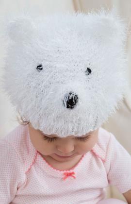 fe588a627f9 Polar Bear Hat Free Knitting Pattern from Red Heart Yarns