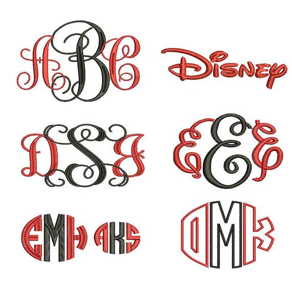 Download Embroidery Font Pack - 6 Machine Embroidery Fonts in 3 ...