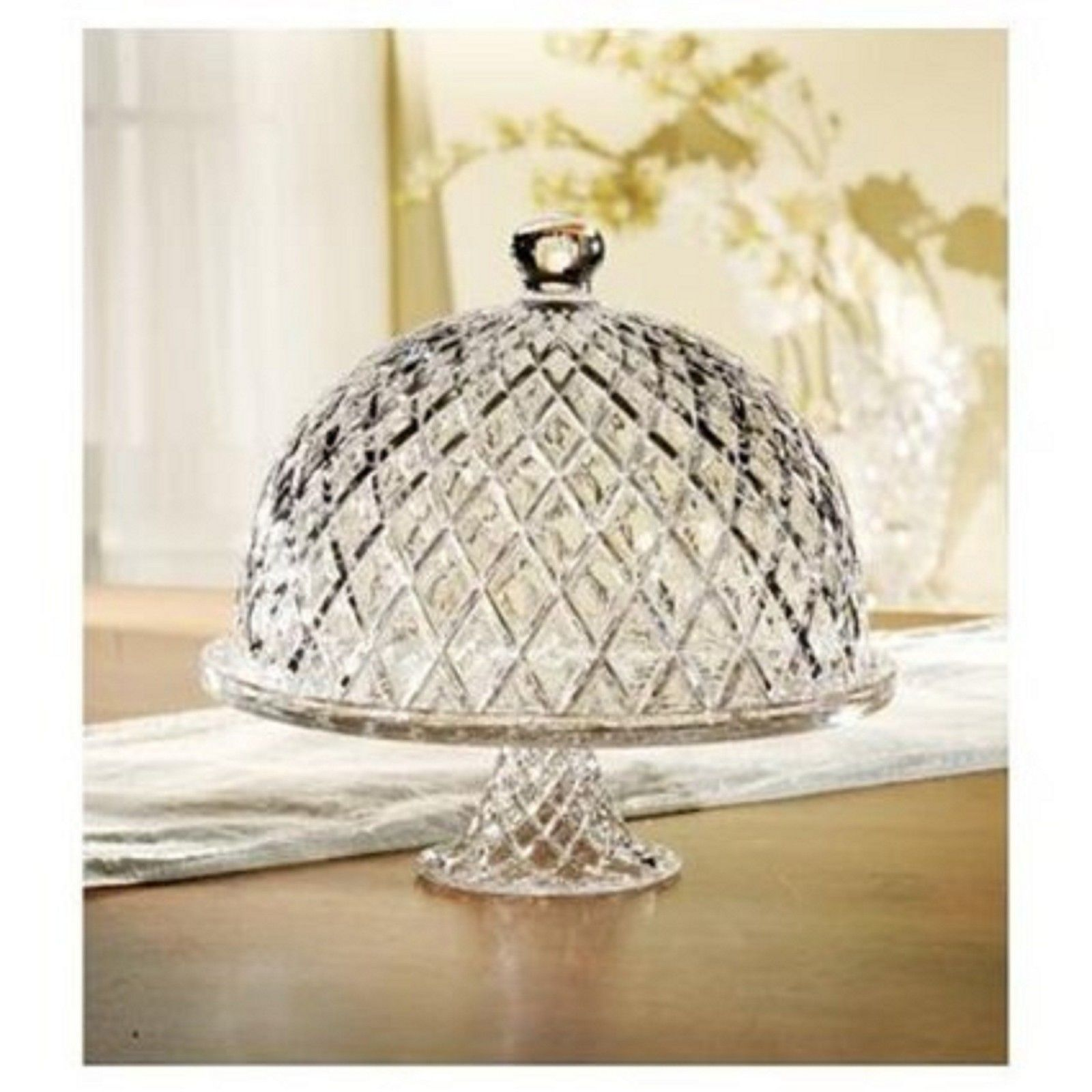 Dinnerware  sc 1 st  Pinterest & Vintage Cake Plate with Dome | Cake Glass Stand Pedestal Dome Lid ...