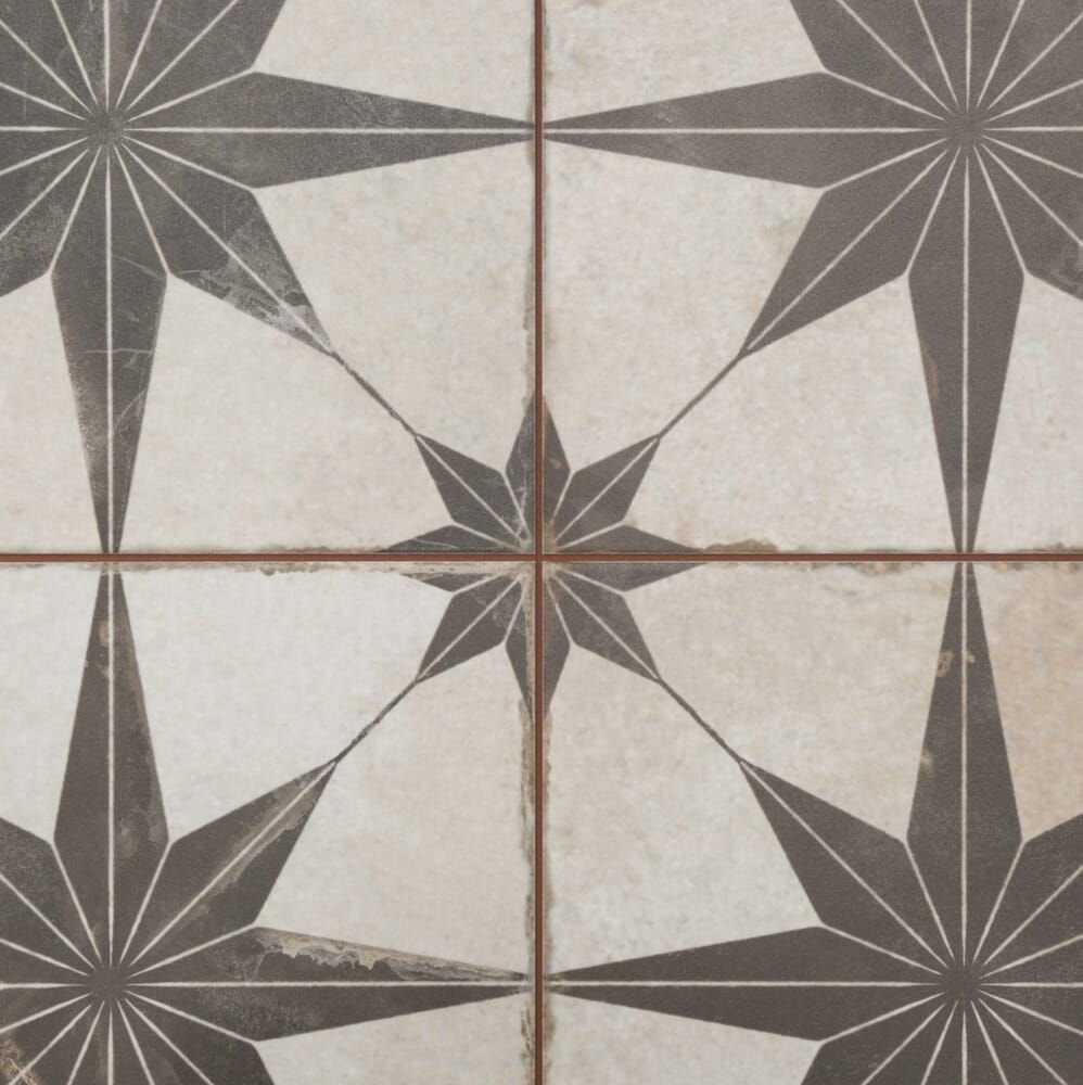 merola tile kings star nero 17 5 8 in