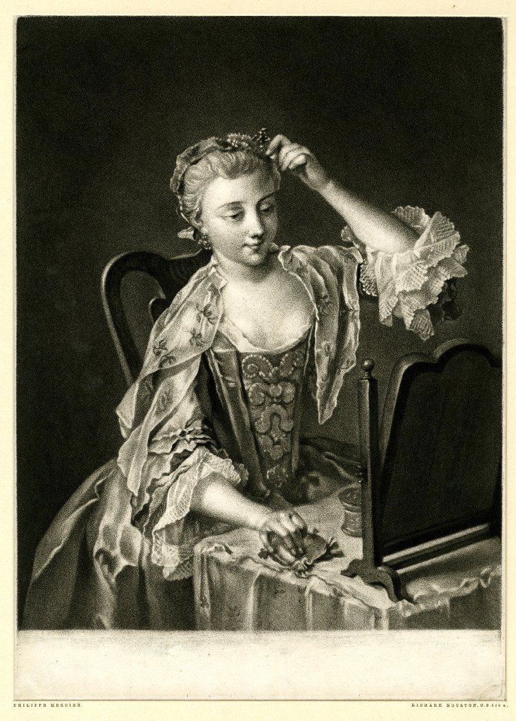 """""""Noon"""" - Print made by Richard Houston after Philippe Mercier 1750"""