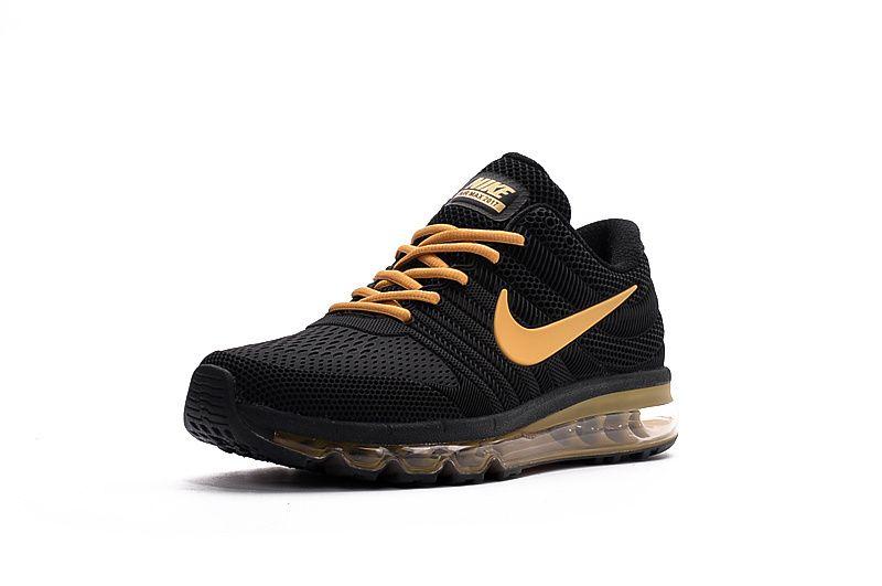 Nike Air Max 2017 KPU Shoes Black Gold Men Nike Air Max 2017