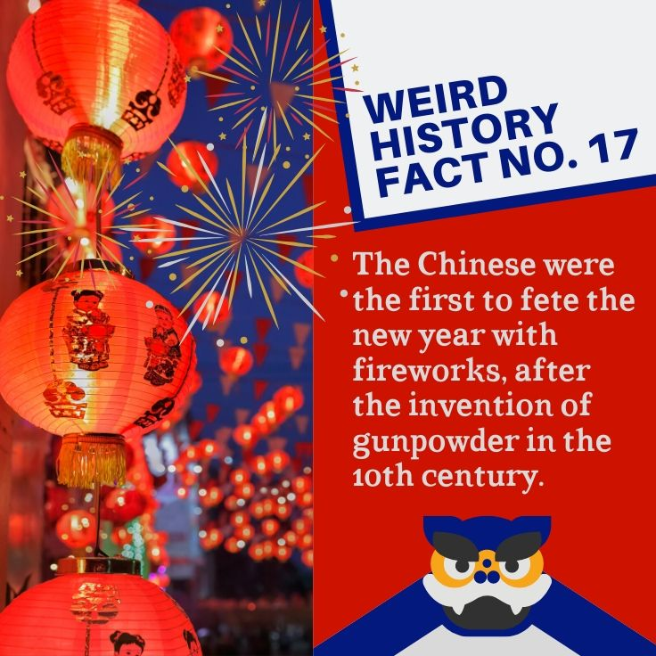The Chinese were the first to fete the new year with