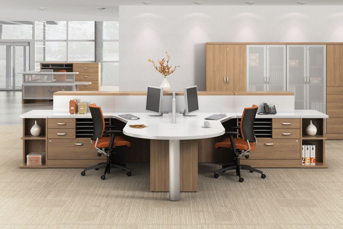 Multi User Open Desking Layout From The Global Total Office Zira Collection Chec Cheap Office Furniture Contemporary Office Furniture Office Furniture Layout