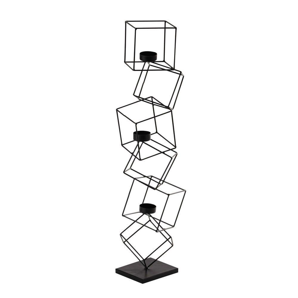 Bougeoir en métal noir H 63 cm CUBISME 24,99 € | Wish list ...