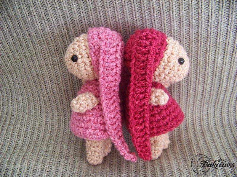 Amigurumi Crochet Personajes : Patrón gratuito para amigurumi inspirado en atashi y anata