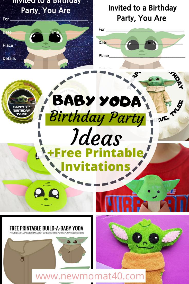 Photo of Kostenlose druckbare Baby Yoda Geburtstagsfeier Einladungen – Neue Mutter bei 40