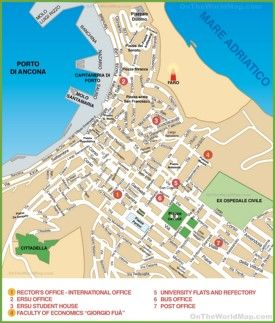 Map of Ancona city centre Interesting Maps of Italy Pinterest