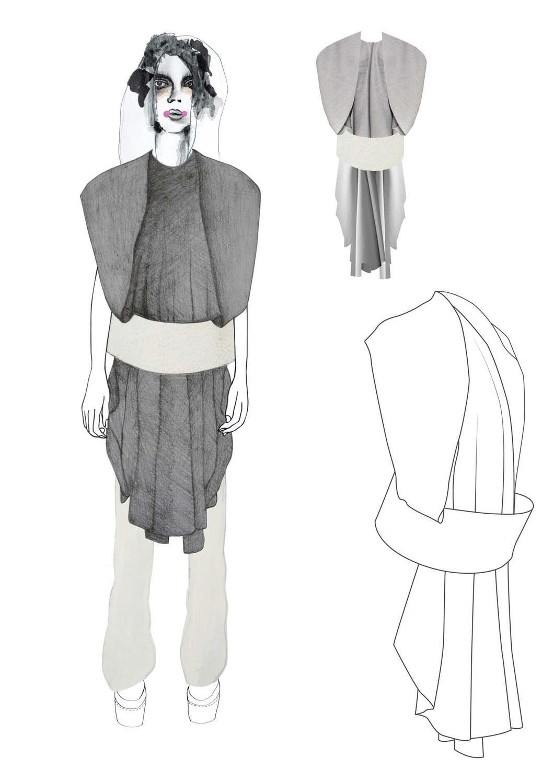 Fashion Sketchbook - fashion drawings for graduate collection; fashion design portfolio // Lisa Clayton