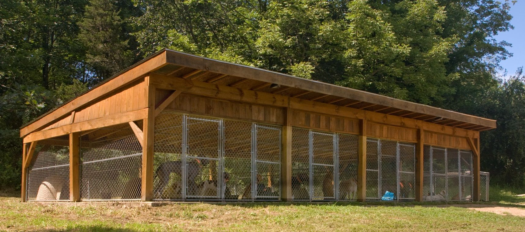 Hunting dog kennel designs bing images dog kennel for Breeding kennel designs