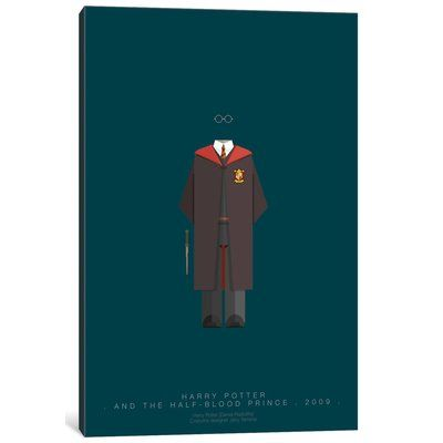 "East Urban Home 'Famous Hollywood Costumes Series: Harry Potter' Graphic Art Print on Canvas Size: 60"" H x 40"" W x 1.5"" D"