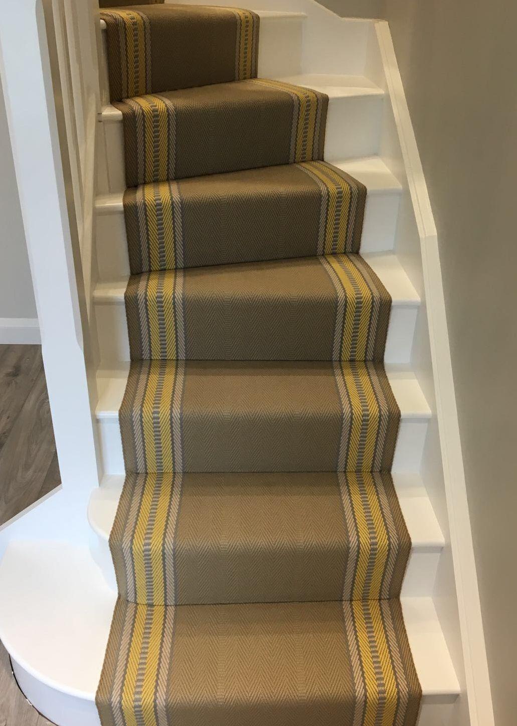Best Roger Oates Westport Lemon Herringbone Stair Carpet 640 x 480