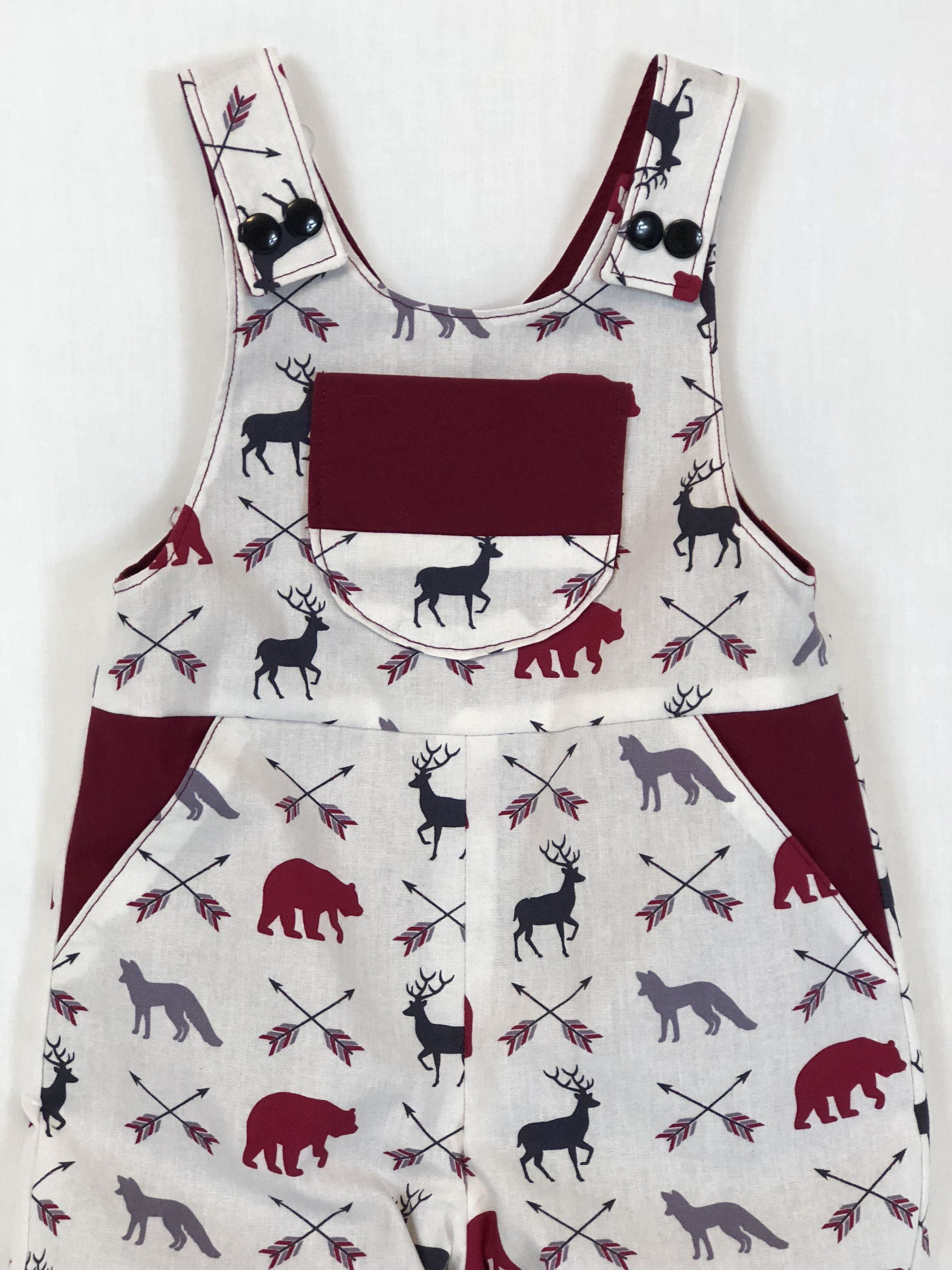 fcc26bbe6c8 Wildlife Romper - Reversible Baby Romper - Baby Summer Romper - Baby  Dungarees - Unisex Romper - by SimplyTotsBoutique on Etsy