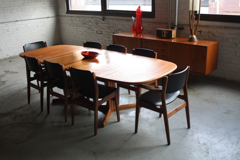 8 Seater Mid Century Modern Dining Table Midcentury Modern Dining Table Modern Dining Table Modern Kitchen Furniture