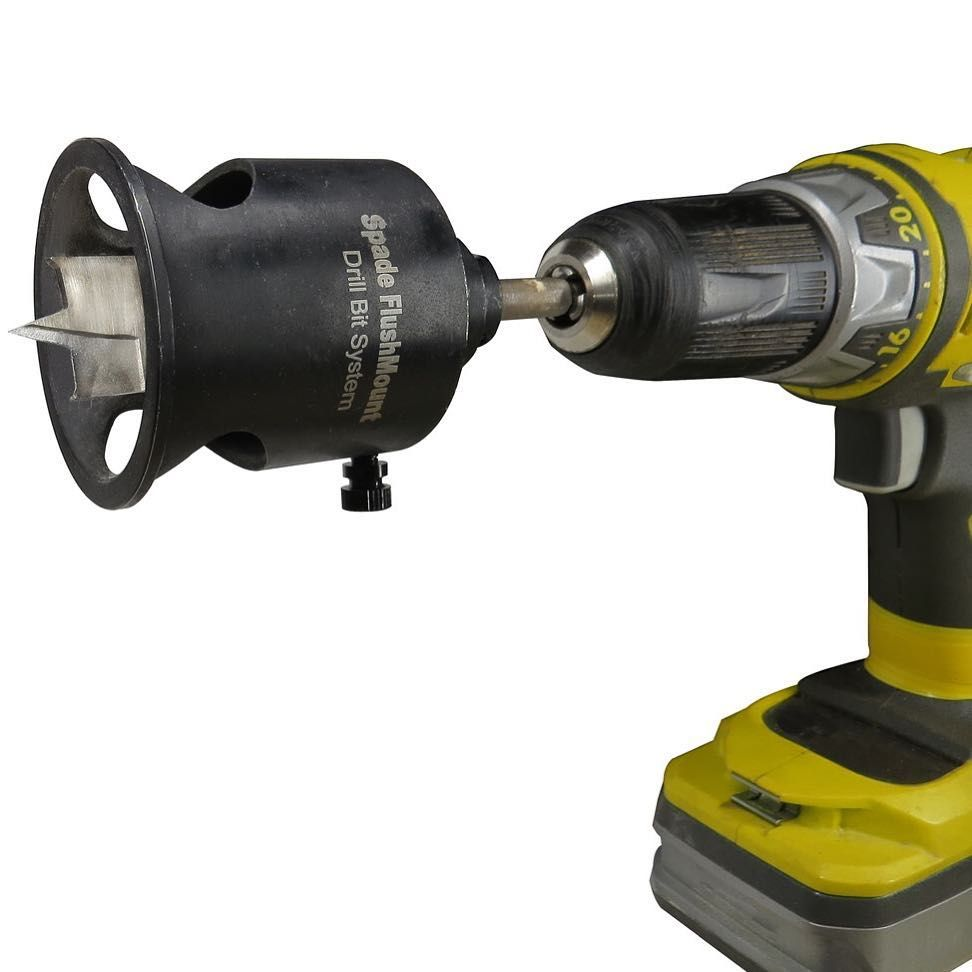 Fastcapllcthe Spade Flush Mount Drill Bit System Controls The Depth And Straightness Of Your Countersink Simply Install Your Spade Bit Drill Bits Drill Spade