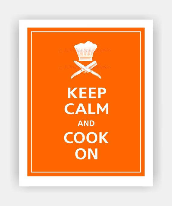 Keep Calm and COOK ON Print 8x10 Orange featured56 by PosterPop, $10.95