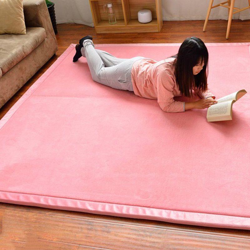 Home Area Rug Coral Fleece Soft Tatami Carpet Pure Color Mat 80*200 ...