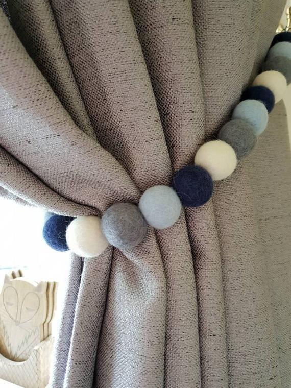Wool Felt Ball Curtain Tie Backs 25 Balls In Total All 2 5cm