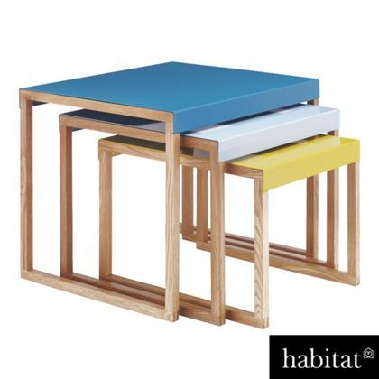 habitat kilo nest of 3 tables blue and yellow at on exclusive modern nesting end tables design ideas very functional furnishings id=14340