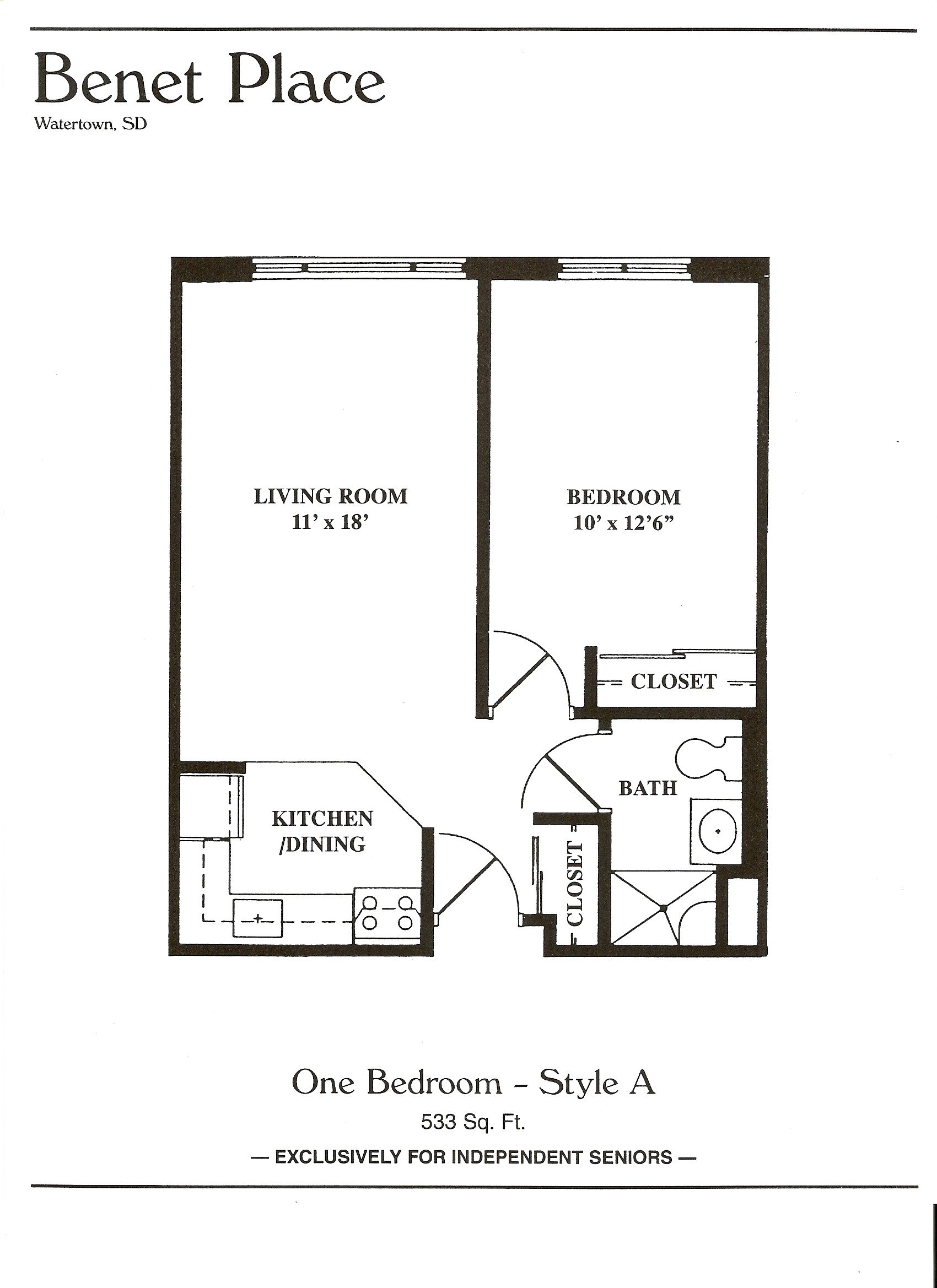 Great Photo Of 1 Bedroom Apartment Floor Plan Apartment Floor Plans 1 Bedroom House Plans 1 Bedroom Apartment