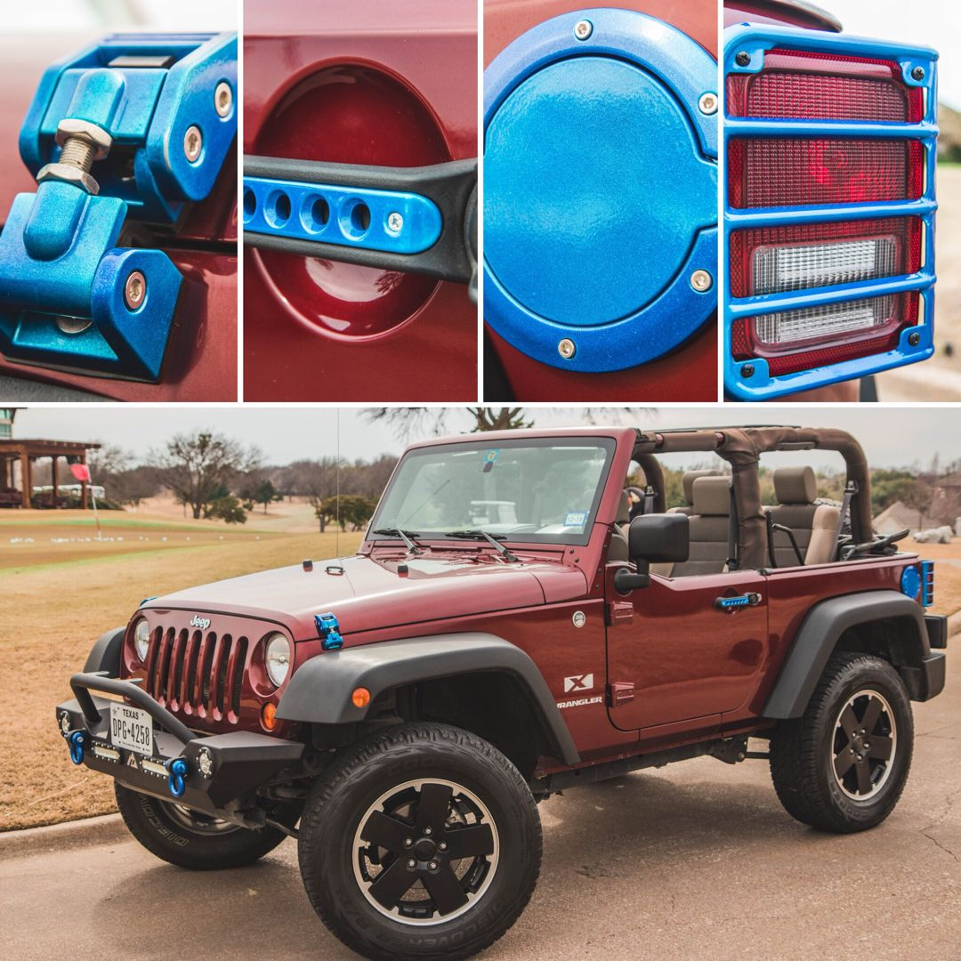 Jeep Accent Kit Custom Color Includes Taillight Covers Gas Cap