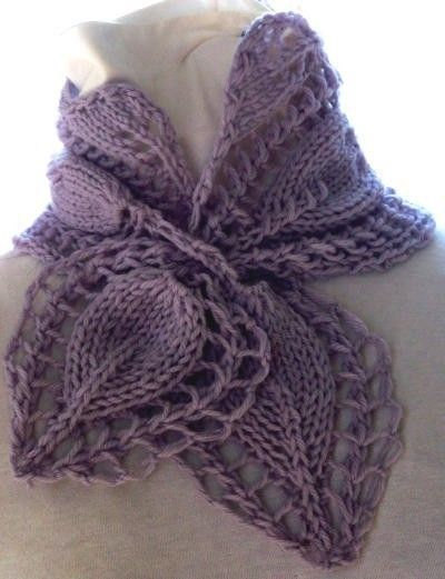 Scarf Knitting Pattern - Victorian Rose | Tejido, Dos agujas y Chal